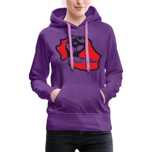 Black power 974 - Sweat-shirt à capuche Premium pour femmes