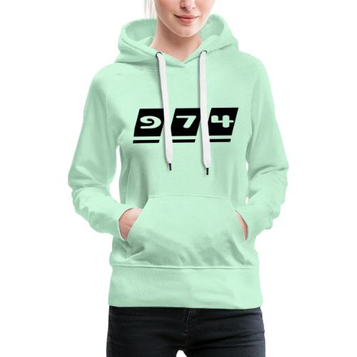 Ecriture 974 - Sweat-shirt à capuche Premium pour femmes
