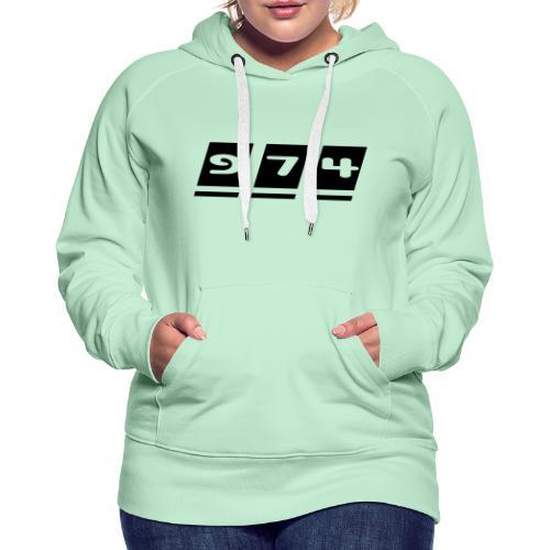 974, La Réunion - Sweat-shirt à capuche Premium pour femmes