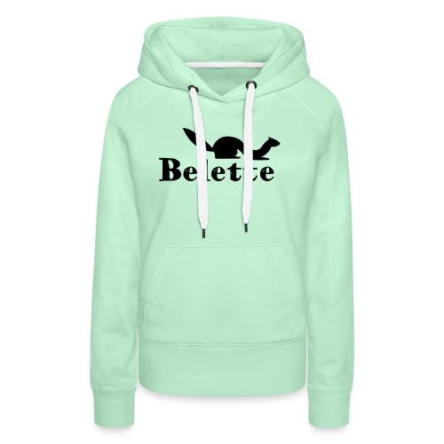 T-shirt Belette simple - Sweat-shirt à capuche Premium pour femmes