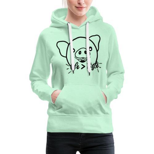 Cute Pig - Women's Premium Hoodie