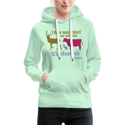 Motiv nationaler Viehbestand - Frauen Premium Hoodie