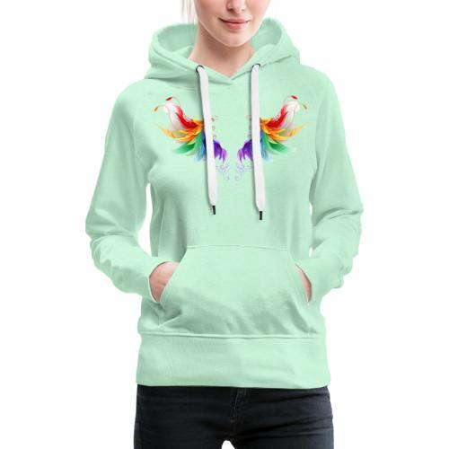 Ailes d'Archanges aux belles couleurs vives - Sweat-shirt à capuche Premium pour femmes