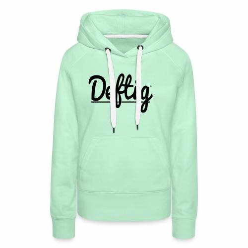 Deftig_underline_black - Vrouwen Premium hoodie