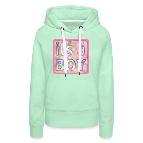 its a boy rosa text skylt - Women's Premium Hoodie
