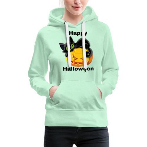 Happy Halloween cat - Women's Premium Hoodie