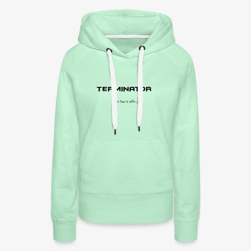 terminator des bacs a sable - Sweat-shirt à capuche Premium pour femmes