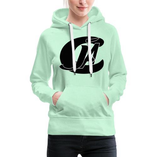 cja design - Sweat-shirt à capuche Premium pour femmes