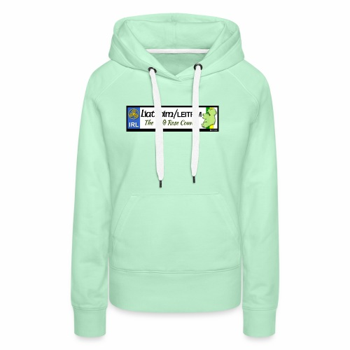 LEITRIM, IRELAND: licence plate tag style decal eu - Women's Premium Hoodie