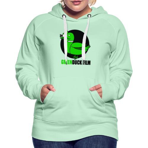 Greenduck Film Logo w. black letters - Dame Premium hættetrøje