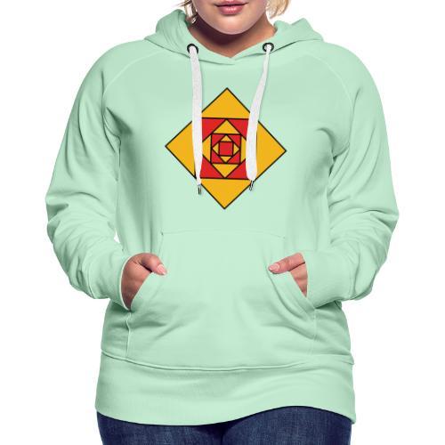 Prismes carrés - Sweat-shirt à capuche Premium pour femmes
