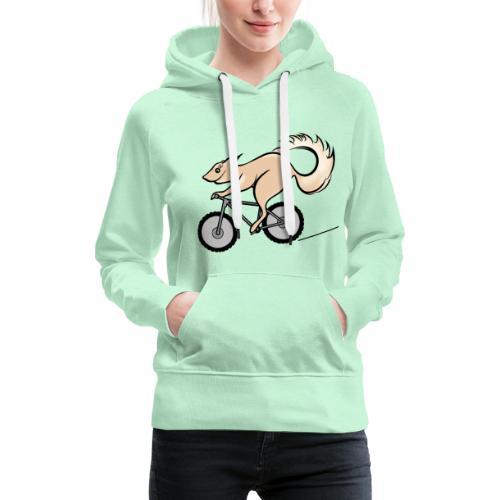 Fahrrad und Eichhörnchen - Frauen Premium Hoodie