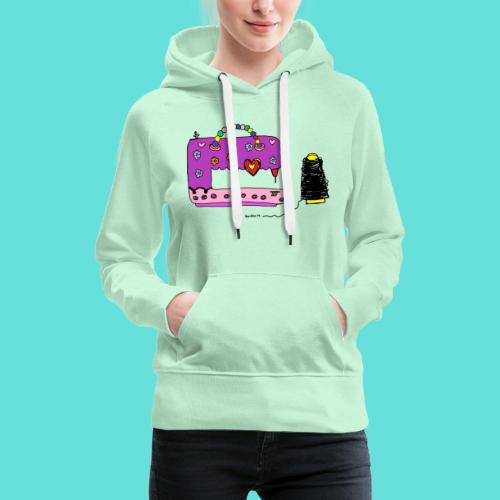 Machine à coudre - Sweat-shirt à capuche Premium pour femmes