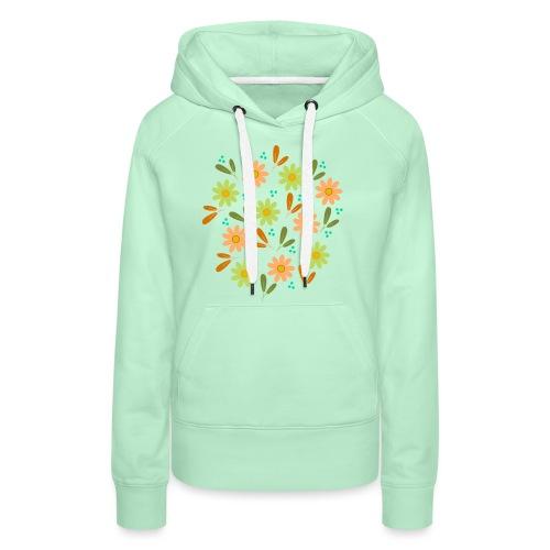 Blumen Muster - Frauen Premium Hoodie
