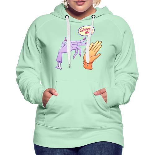 Monstrous witch's hand asking for glove - Women's Premium Hoodie
