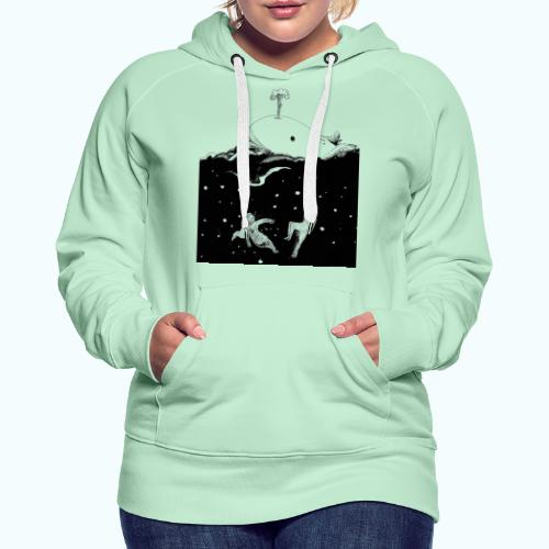I LOVE WHALES real drawing - Women's Premium Hoodie