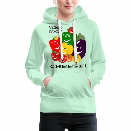 Veggie Family - Cheese - Women's Premium Hoodie