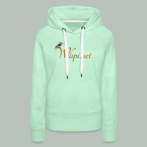 logo wilipi - Sweat-shirt à capuche Premium pour femmes