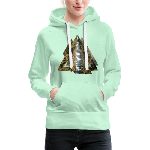 Triangle Tropical Palm Street - Frauen Premium Hoodie