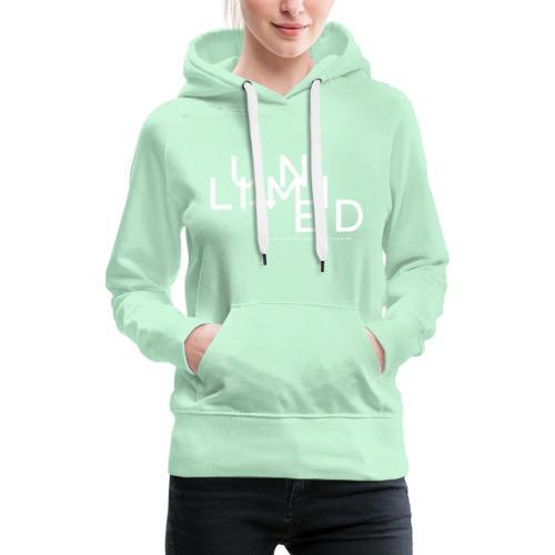 Unlimited white - Women's Premium Hoodie