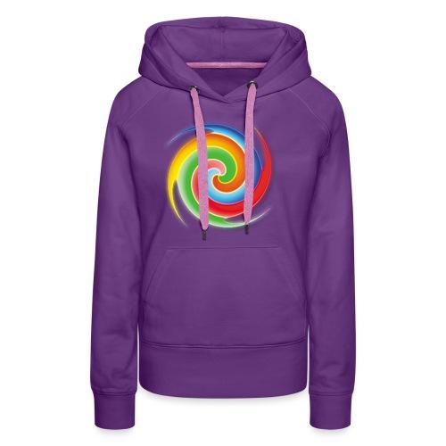 deisold rainbow Spiral - Frauen Premium Hoodie