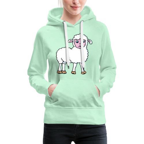 Minos le petit agneau - Sweat-shirt à capuche Premium pour femmes