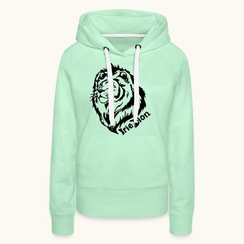 Irie Lion - Lion Rastafari - Sweat-shirt à capuche Premium pour femmes