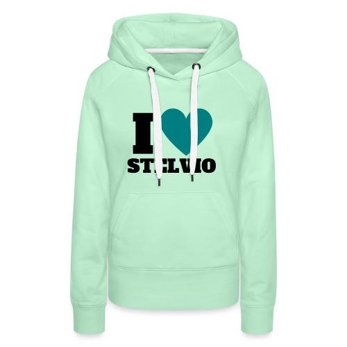 I LOVE STELVIO - Felpa con cappuccio premium da donna