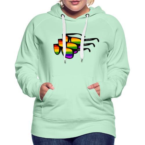 Rainbow Sunglass Gay Ban - Frauen Premium Hoodie