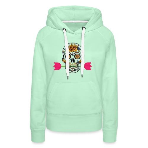 roses - Sweat-shirt à capuche Premium pour femmes