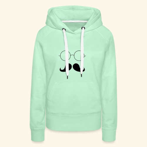 Moustachu - Sweat-shirt à capuche Premium pour femmes