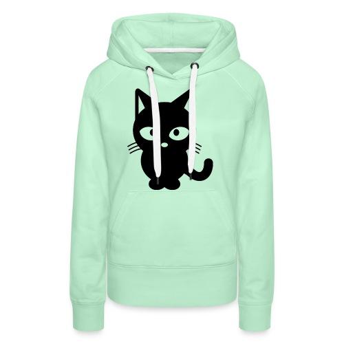 Styled Black Cat - Sweat-shirt à capuche Premium pour femmes
