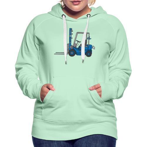 Blauer Gabelstapeler - Frauen Premium Hoodie