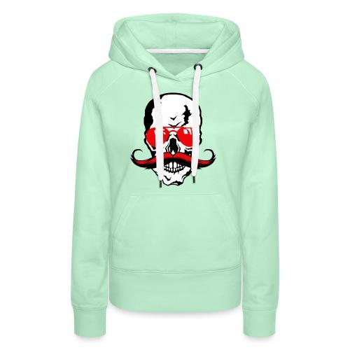 tete de mort crane moustache skull moustachu fanta - Sweat-shirt à capuche Premium pour femmes