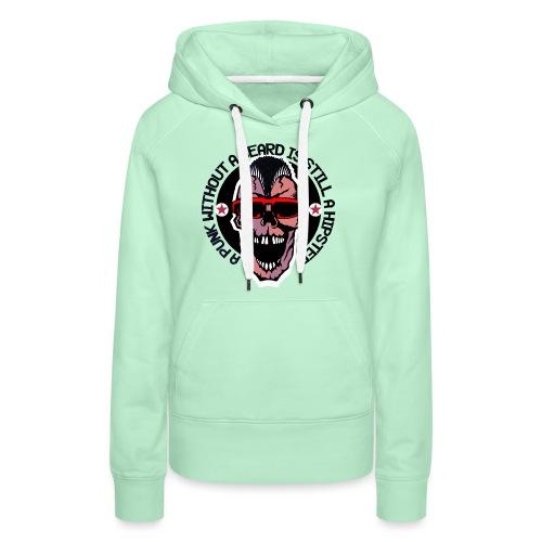 tete de mort hipster punk citation humour crane sk - Sweat-shirt à capuche Premium pour femmes