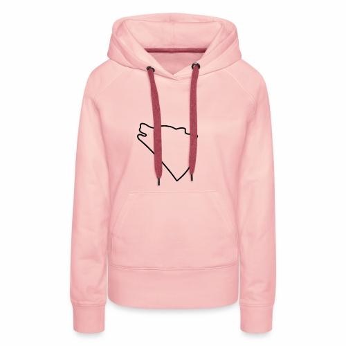 Wolf baul logo - Vrouwen Premium hoodie