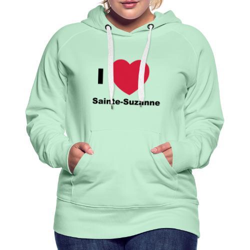 i love sainte suzanne - Sweat-shirt à capuche Premium pour femmes