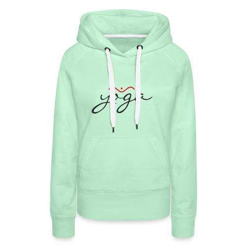 Yoga Balancing Typography And Emblem 1 - Frauen Premium Hoodie