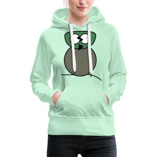 Owl crazy - c - Sweat-shirt à capuche Premium pour femmes