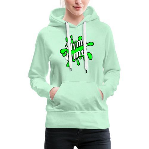 Slyme Tyme Logo / White To Green - Women's Premium Hoodie