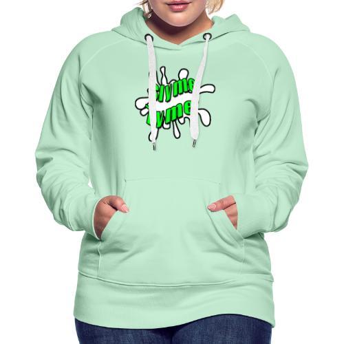 Slyme Tyme Logo / Green To White - Women's Premium Hoodie