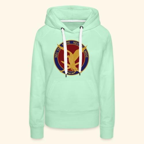 11 aaslt herinneringsenmbleem - Vrouwen Premium hoodie