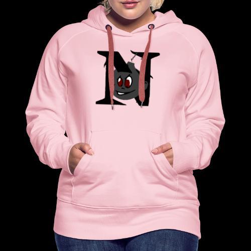 tete seul N - Sweat-shirt à capuche Premium pour femmes