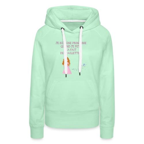 Princesse parfaite - Sweat-shirt à capuche Premium pour femmes