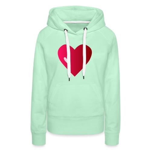 logo corazon rosa by Vexels - Sudadera con capucha premium para mujer
