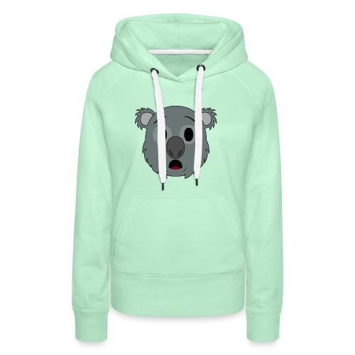 Koala Klay Asombro - Sudadera con capucha premium para mujer