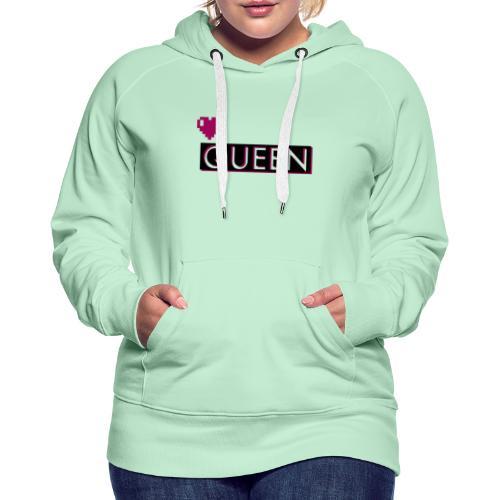 Queen, la regina - Felpa con cappuccio premium da donna