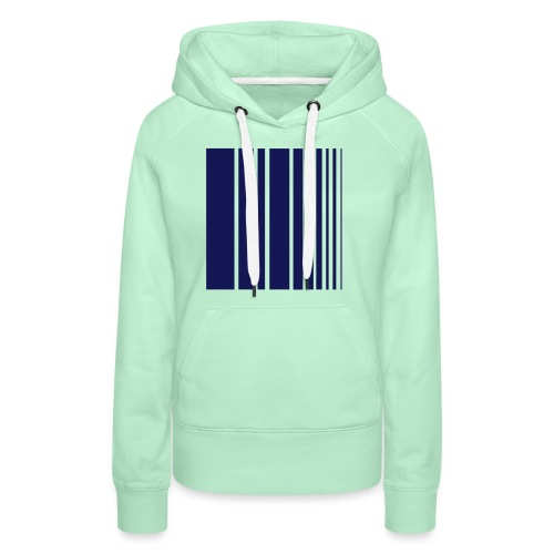stripes blue - Women's Premium Hoodie