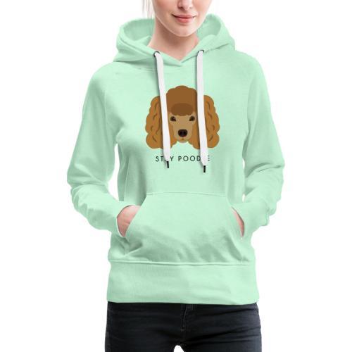 Poodle Brown - Felpa con cappuccio premium da donna