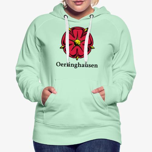 Lippische Rose mit Unterschrift Oerlinghausen - Frauen Premium Hoodie